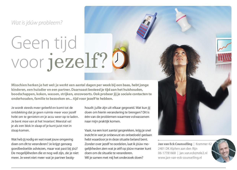 201602 Geen Tijd Voor Jezelf Relatietherapeut Jan Van Eck