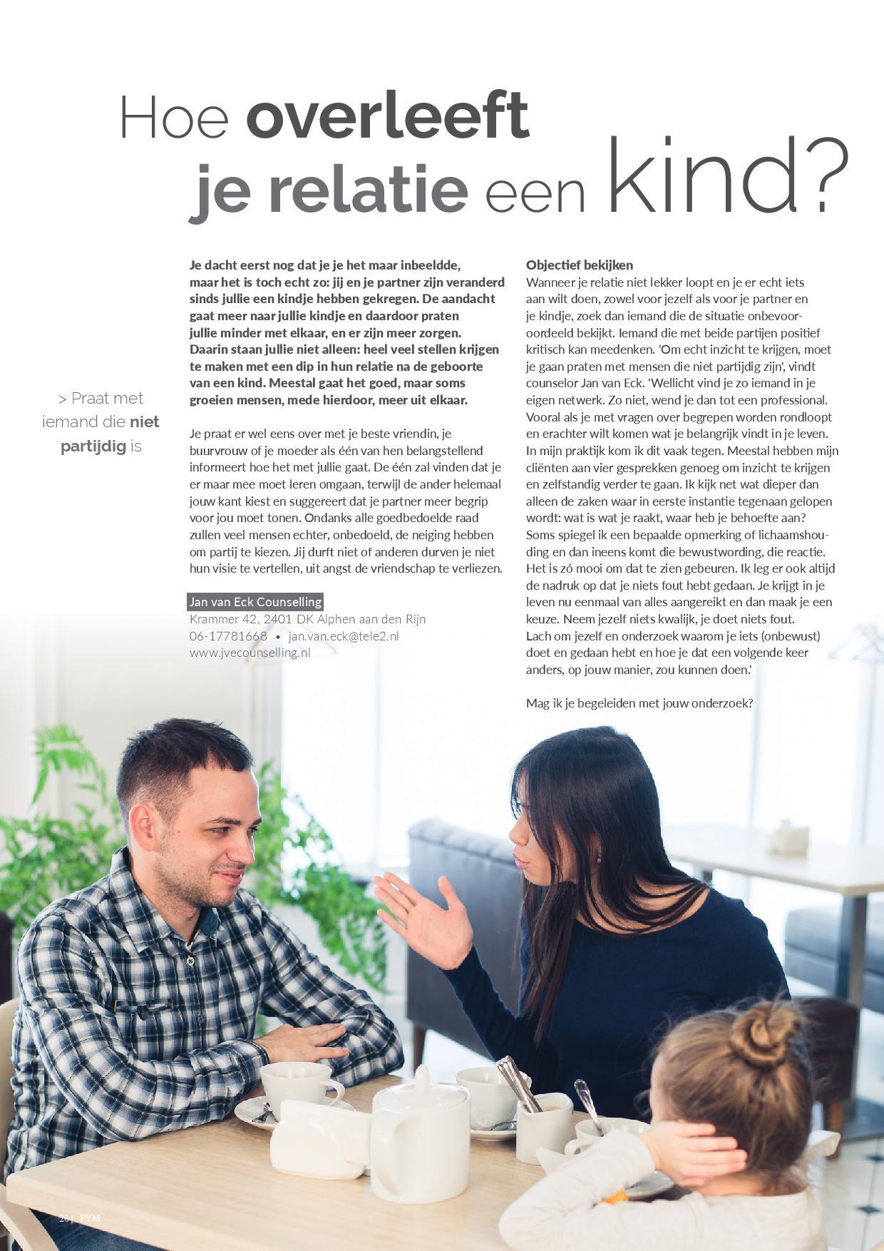 201801 Hoe Overleeft Je Relatie Een Kind Artikel Relatietherapeut Jan Van Eck Page 001