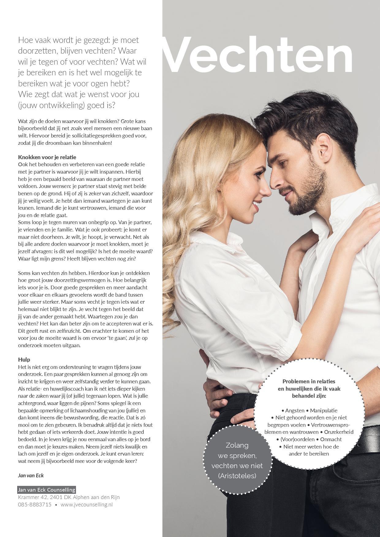 Vechten in een relatie - Relatietherapeut Jan van Eck