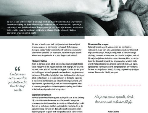 Ik heb geen therapie nodig – Artikel relatietherapeut Jan van Eck